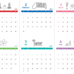 イルカのイラスト2021年カレンダー